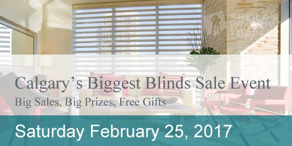 Calgary's Biggest Blinds Sale Event