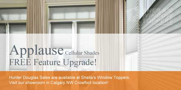 Hunter Douglas Applause Sale Calgary Aspen