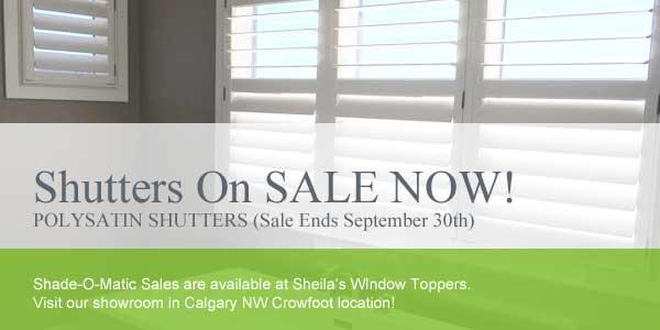 Shutters On Sale - Calgary