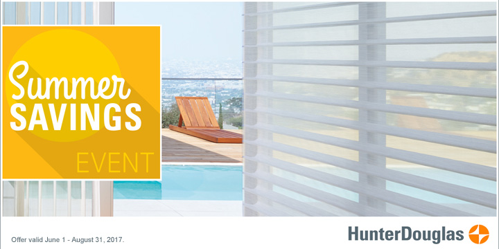 Hunter Douglas Savings Summer Rebate