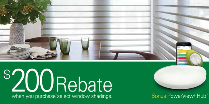 Rebate Hunter Douglas Free Power Hub Sale