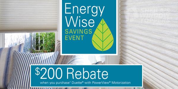 Hunter Douglas Duette Energy Rebate Sale