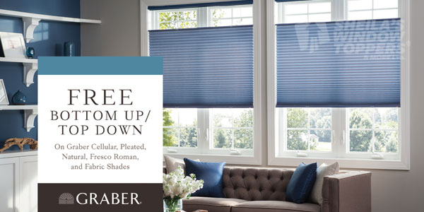 Calgary's Blinds Sale Free Top Down / Bottom Up Feature