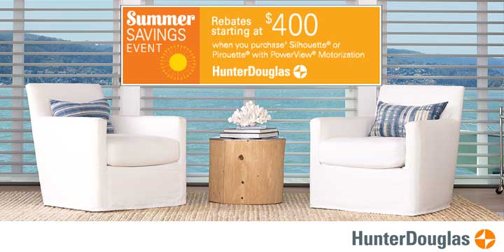 Hunter Douglas Summer Sale