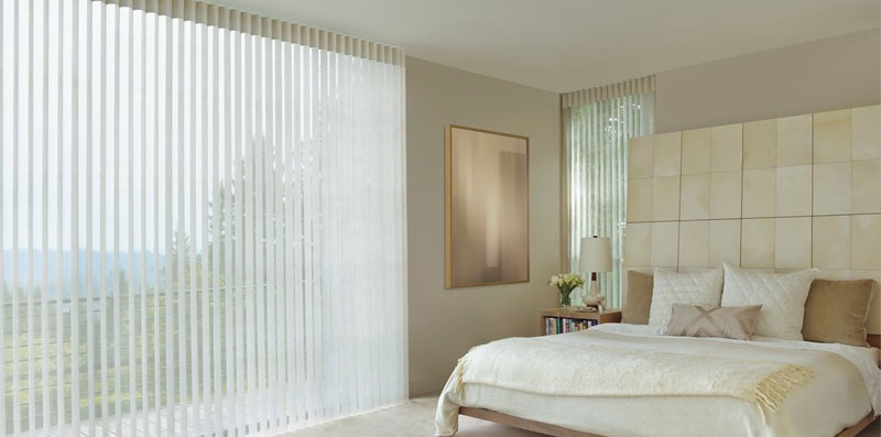 Hunter Douglas Luminette in Bedroom