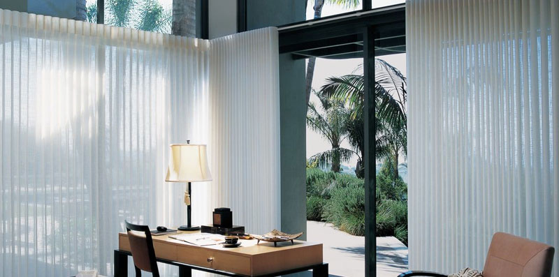 Hunter Douglas Luminette Calgary Shades Vertical Patio Blinds