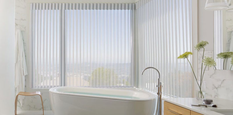 Luminette Shades in Bathroom