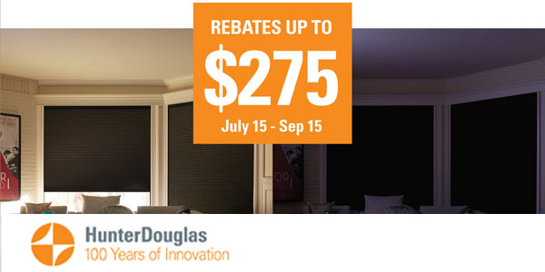 Motorized Blinds Hunter Douglas Sale Rebate