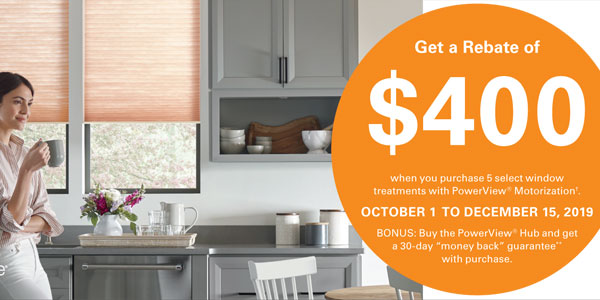 Hunter Douglas PowerView Rebate $400